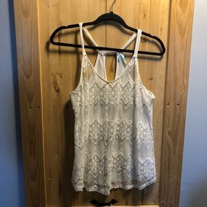 Maurices sheer front tank top